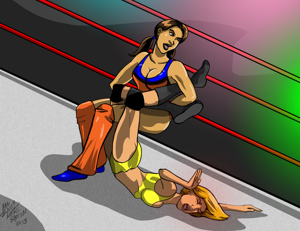Xtina makes Kyie tap from the sharpshooter!
